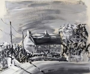 cottage, frampton on Severn, Gloucestershire, roy munday's art class for beginners,