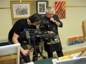 BBC visit the sefton art group, merseyside, celebrating year of the arts