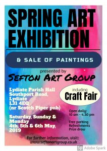 art exhibition, sefton art group, may 2019, liverpool, lydiate, merseyside, learn art, buy paintings, local artists