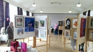 art exhibition, at lyidate parish hall, merseyside, sefton art group