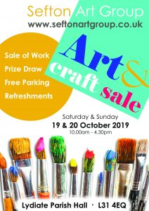 art exhibition, lydiate, 19 & 20th october 2019, liverpool, southport, ormskirk, merseyside
