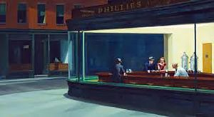 edward hopper, night hawks, artclasses at the bluecoat, liverpool, art classes for beginners, liverpool, mersehyside.