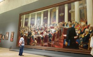 ilya repin's painting. very big scale, pushkin museum. visited by artist roy munday, southport, merseyside, liverpool, art classes for beginners