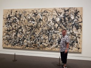 abstract expressionistic painting by Jackson Pollock, metropolitan museum, New York