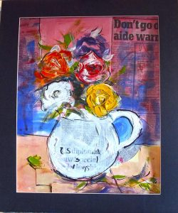 creative art classes, painting, drawing, for beginners on merseyside, working with paint and collage