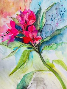 painting done in multi media, beginners art classes, near me, online painting classes, uk, Merseyside, greater manchester,