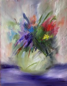 oil painting of flowers, art classes online, zoom, UK, near me, Merseyside, Greater Manchester, Lancashire, ormskirk, UK,